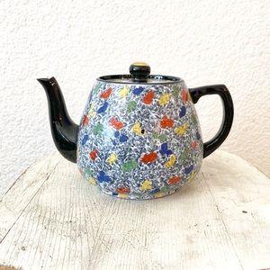 Modern Contemporary Black Ceramic Teapot England